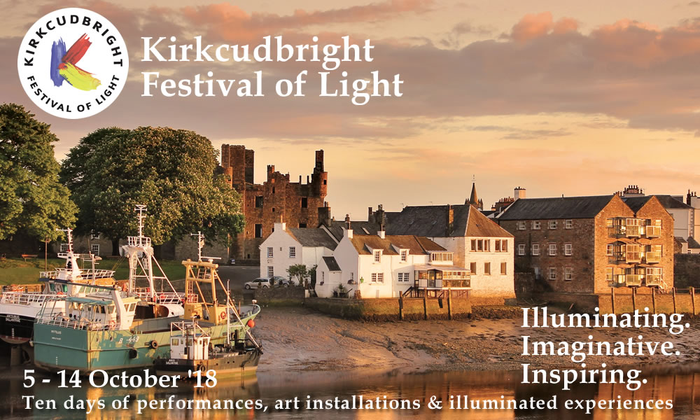We invite you to join us during this ten day festival that showcases the imagination, illumination and inspiration of Kirkcudbright; Scotland's Artists' Town.