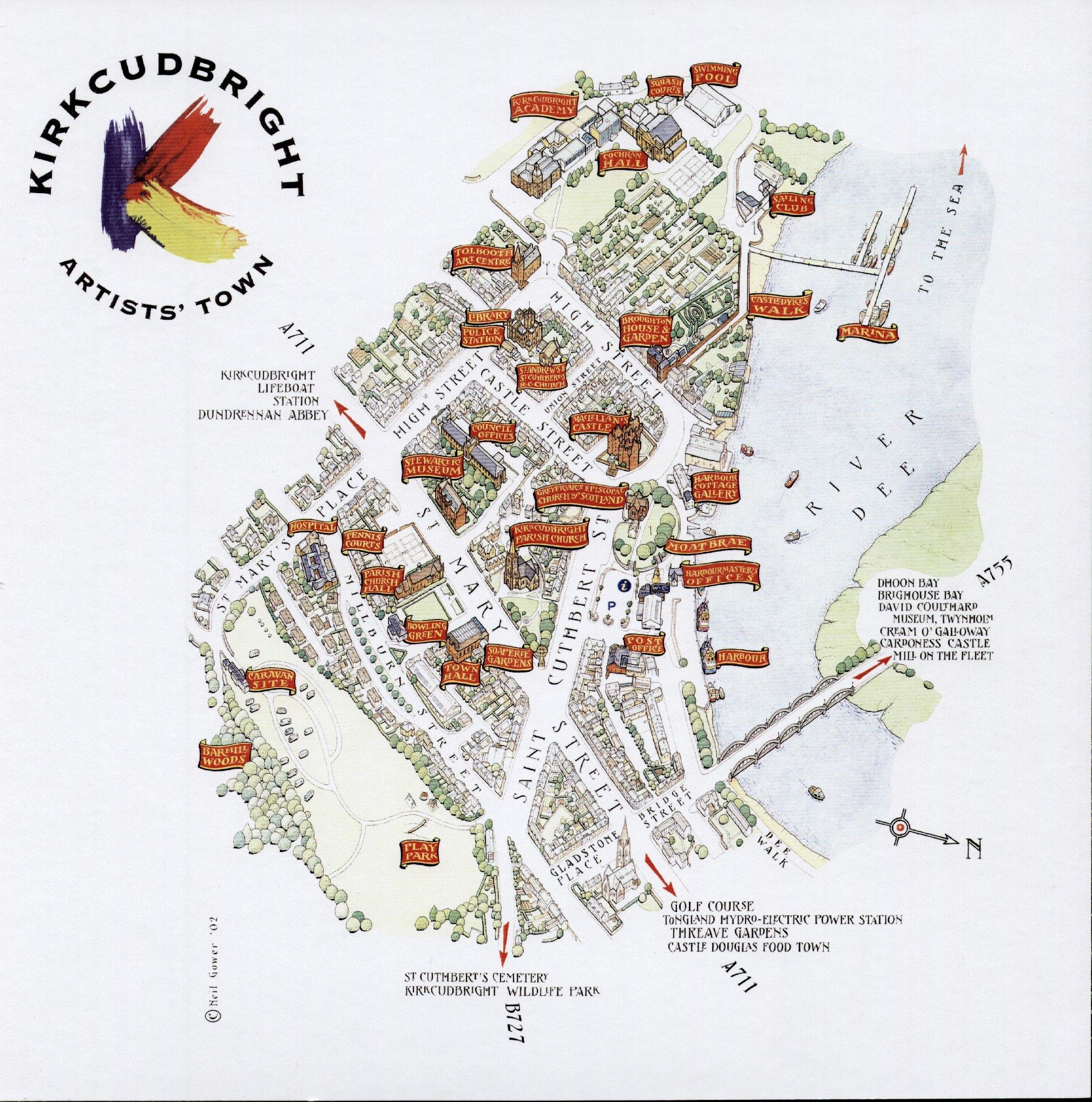 Kirkcudbright Town Map