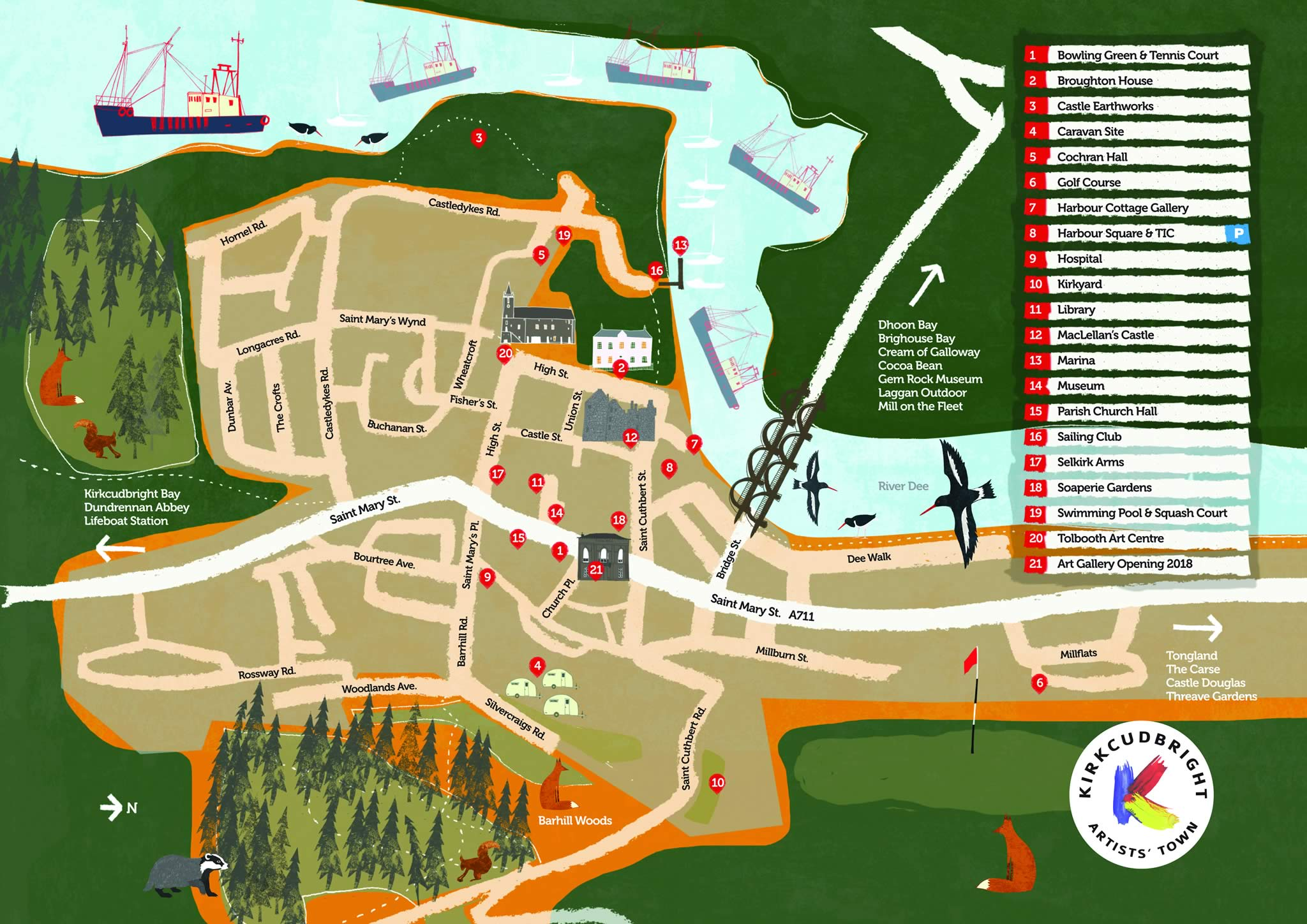 Kirkcudbright Town Map (low res web version)