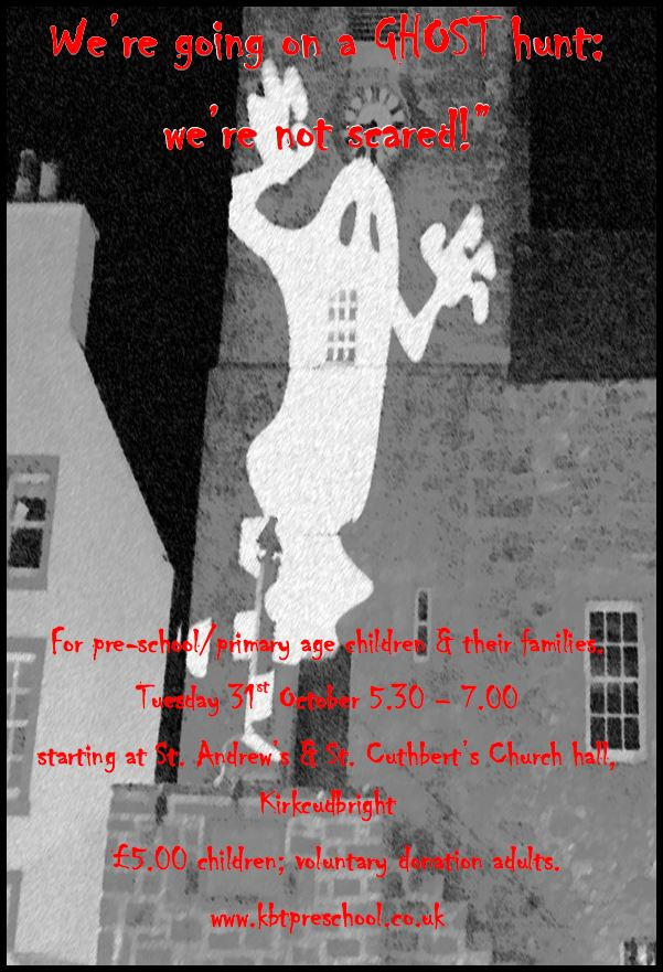Halloween Ghost Hunt @ Starting at St. Andrew's & St. Cuthbert's Church Hall | Kirkcudbright | Scotland | United Kingdom
