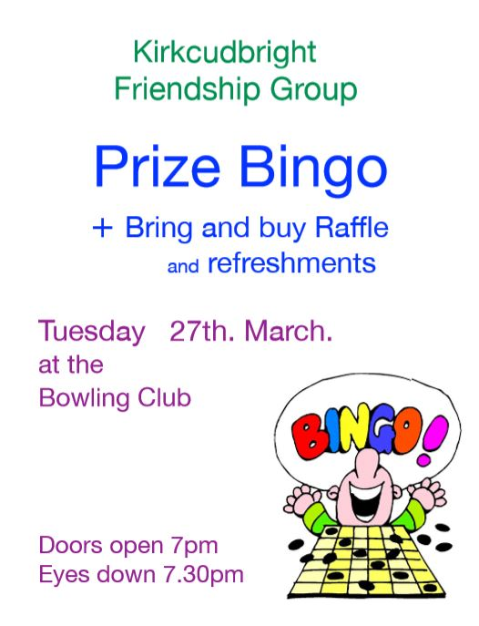 Prize Bingo @ Kirkcudbright Bowling Club | Kirkcudbright | Scotland | United Kingdom